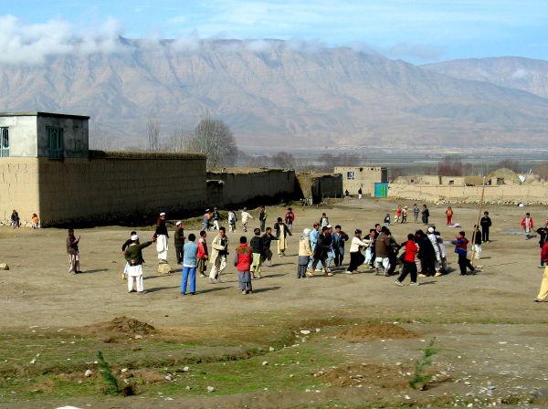 AFGHAN BOYS PLAYING FOOTBALL