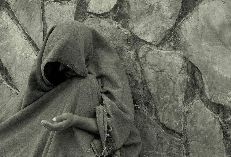 poor Afghan man begging