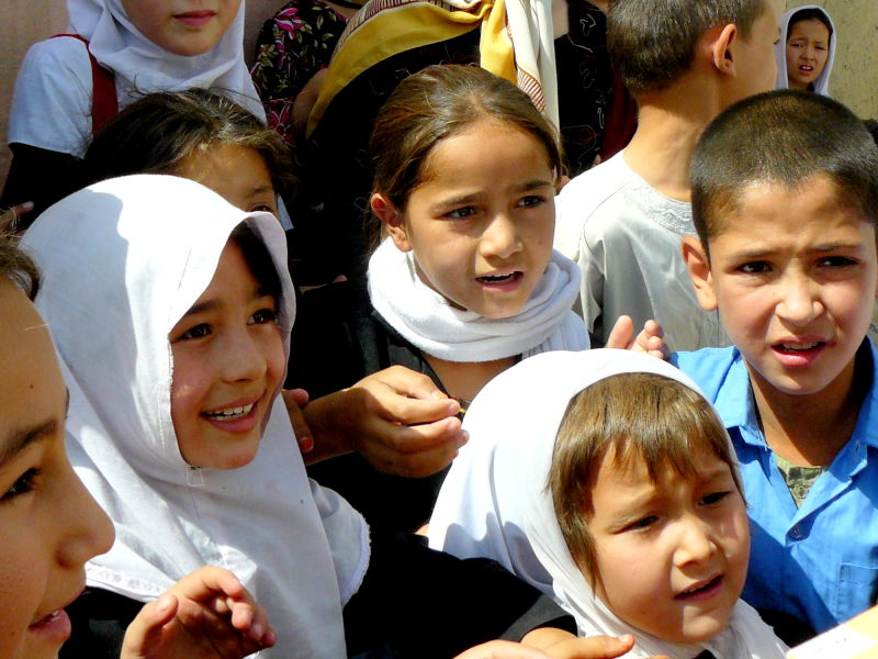 Afghan school children