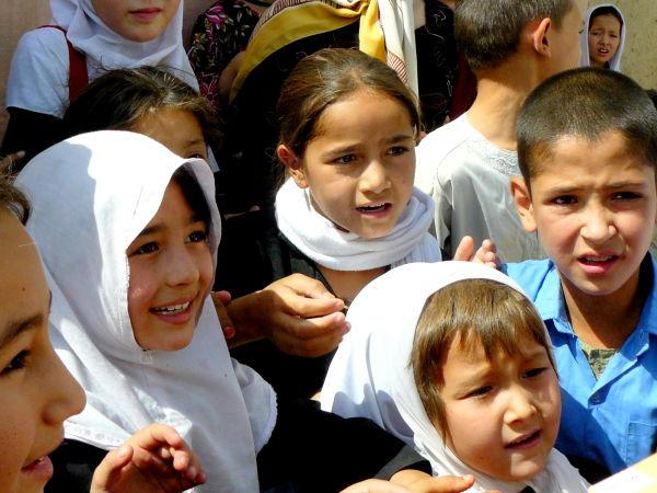 Afghan school children