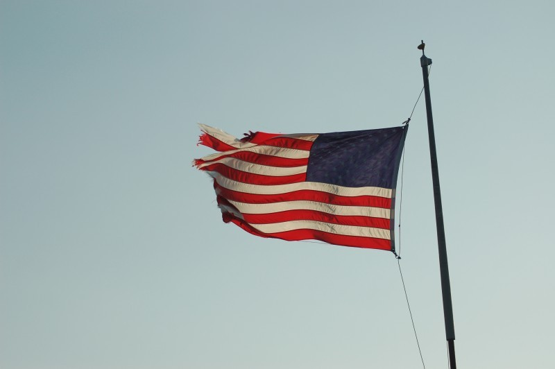 American Flag at City Pier