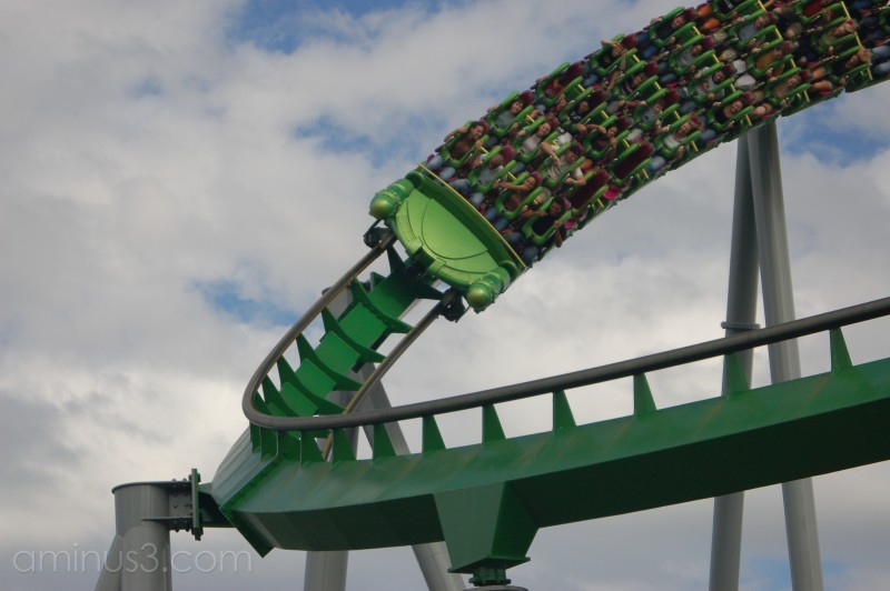 A roller coaster at Universal