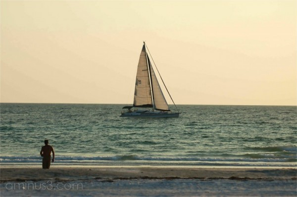 A sailboat off Anna Maria Island.