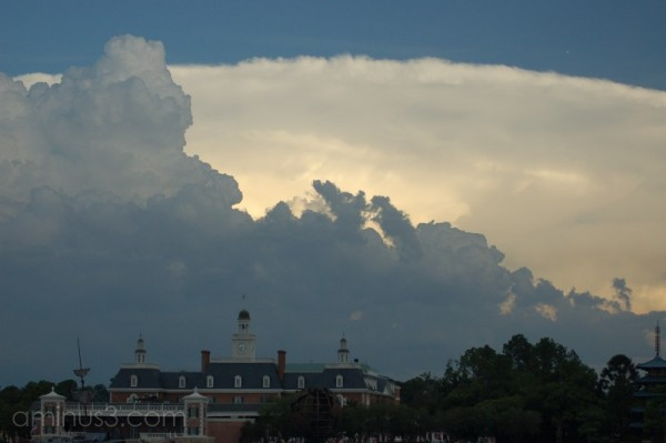 Cloud pattern over Epcot