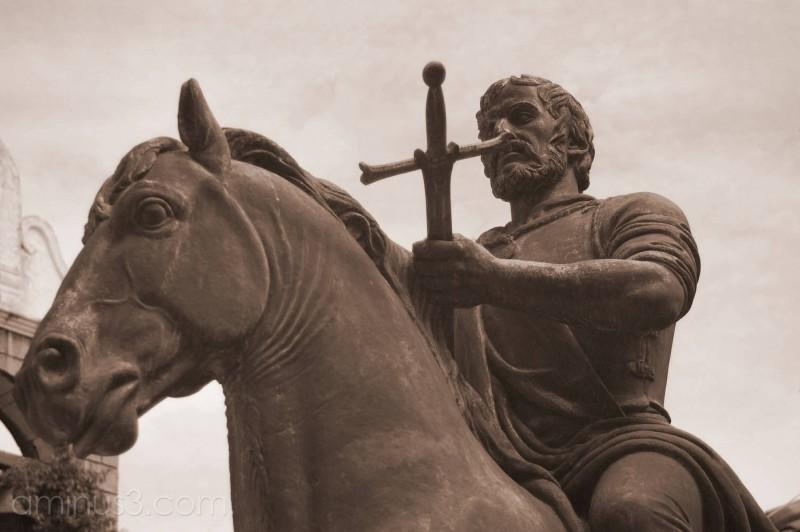DeSoto statue at museum in Bradenton