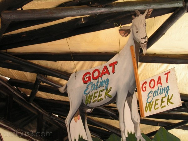 Kenya Goat Sign