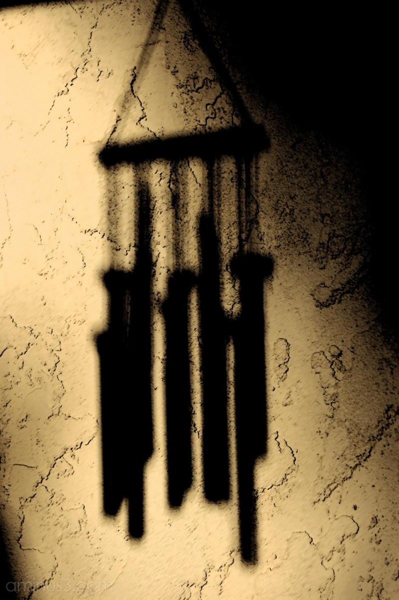 Brush strokes windchime shadows