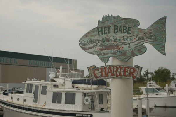 charter boat sign