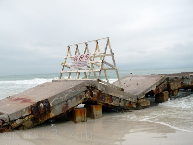 crumbled pier