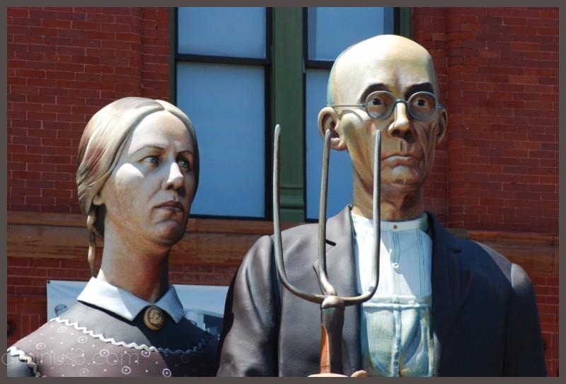 American Gothic sculpture
