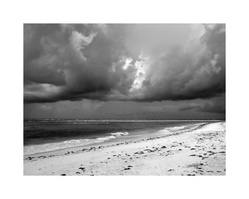 Stormy sky bw
