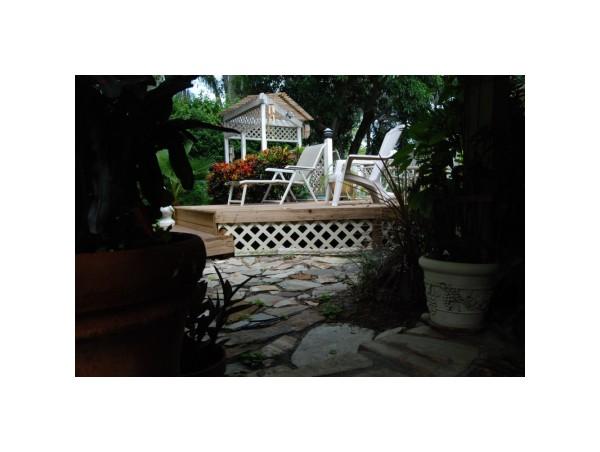 deck home backyard