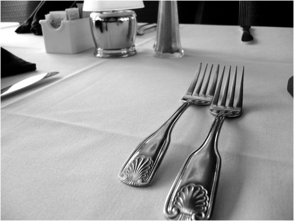 Table Silverware BW