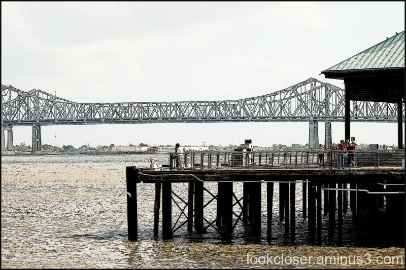 NOLA Bridge Dock Mississippi River