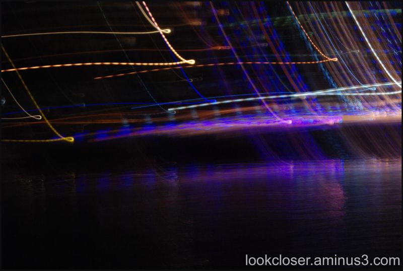 Light motion boat parade Epiphany