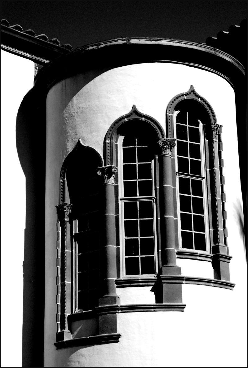 ringling tower bw windows
