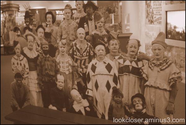 ringling clowns sepia