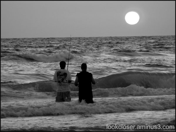 fishing bw