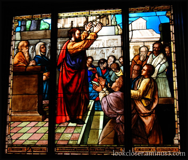 SF Old St.Mary's Stained Glass Benediction