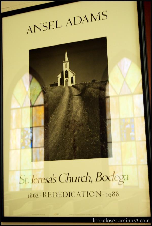 California Bodega St. Teresa's Church Ansel Adams