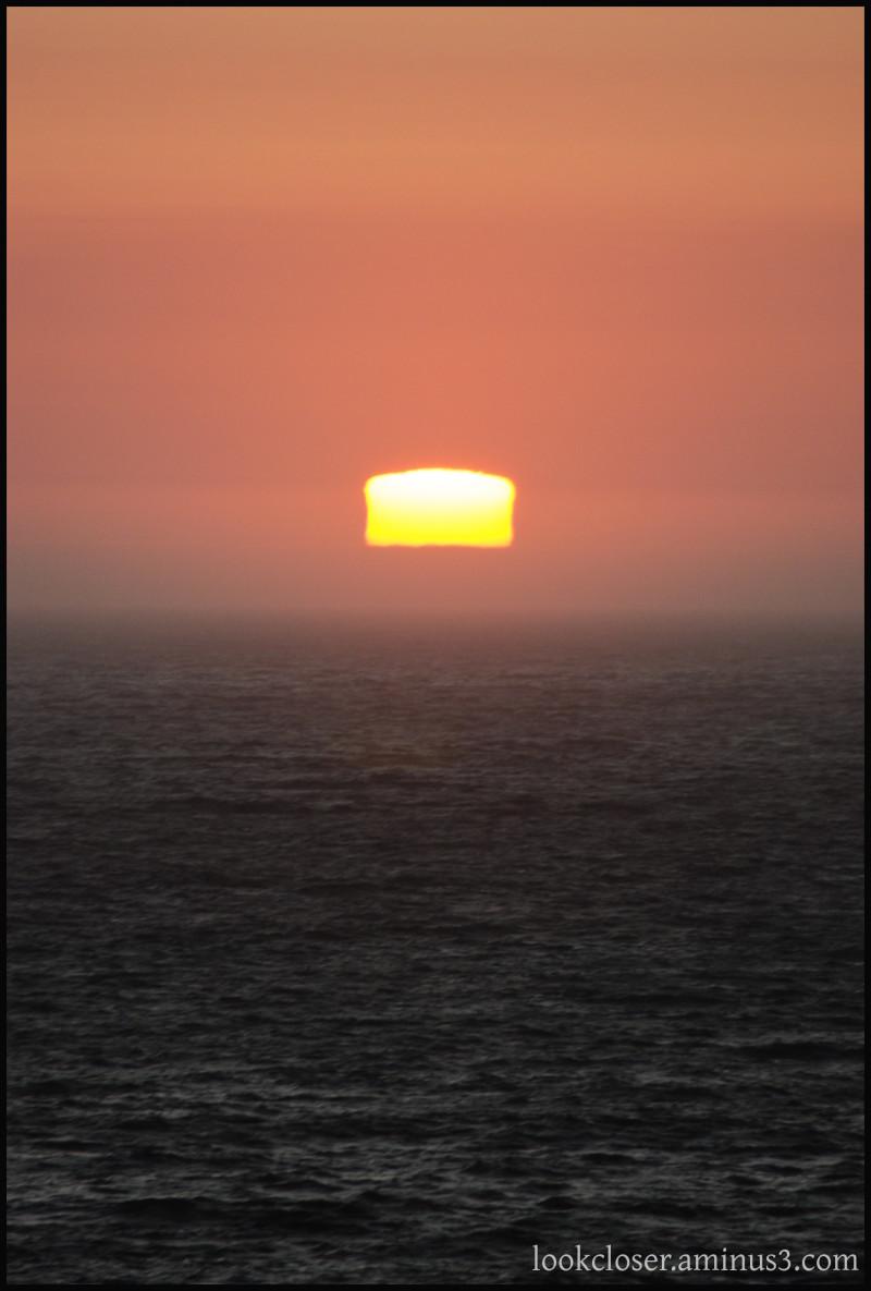 CA sunset seascape