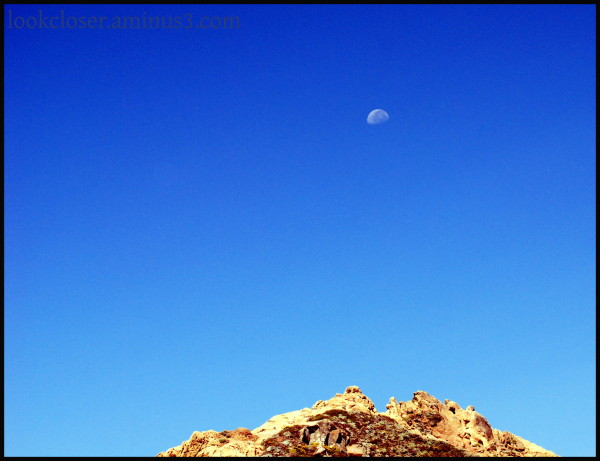 CA Pacific PfeifferBeach BigSur moon sky blue