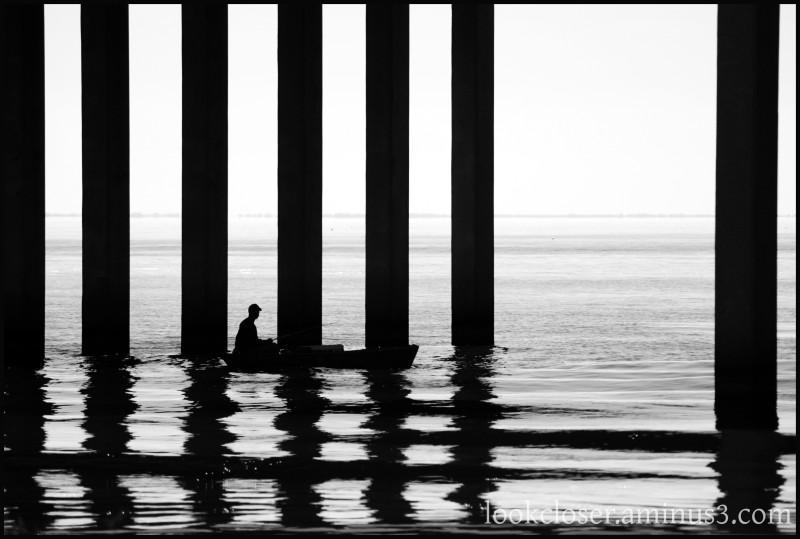 LA ManchacBridge LakeMaurepas fisherman