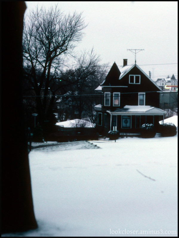 IA Dubuque winter home snow