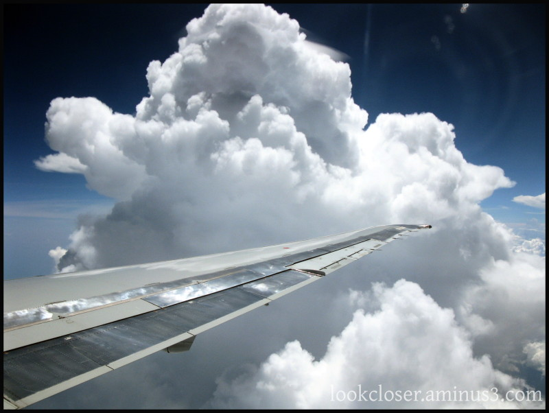 Plane Clouds Sky Land