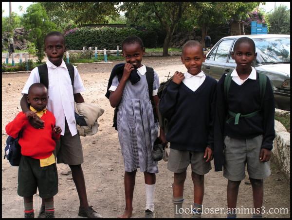 Children Kenya school-uniforms play