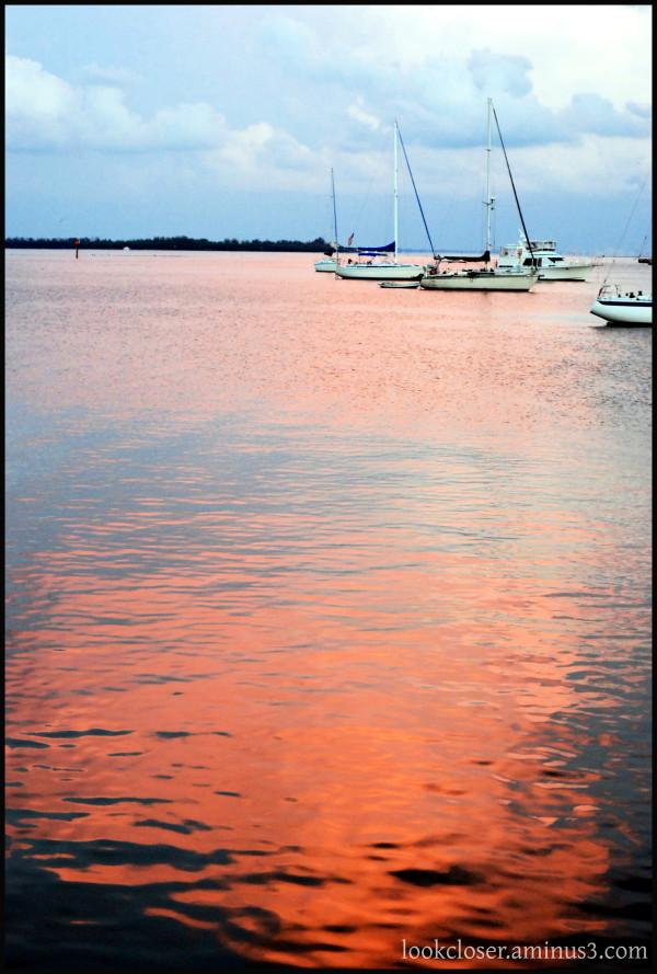 FL bradenton bay sunset sky