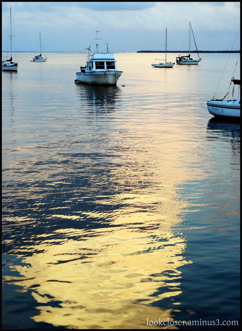 FL bradenton bay sunset sky boats