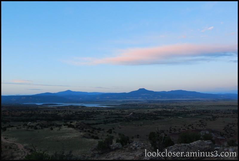 Ghost-Ranch NM sunrise sky mesas