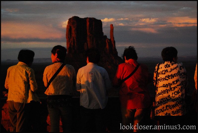 Monument-Valley UT Navajo West Sunset people