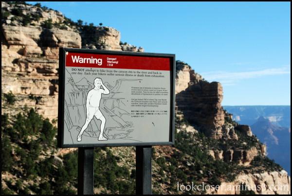 Grand-Canyon AZ West trail sign