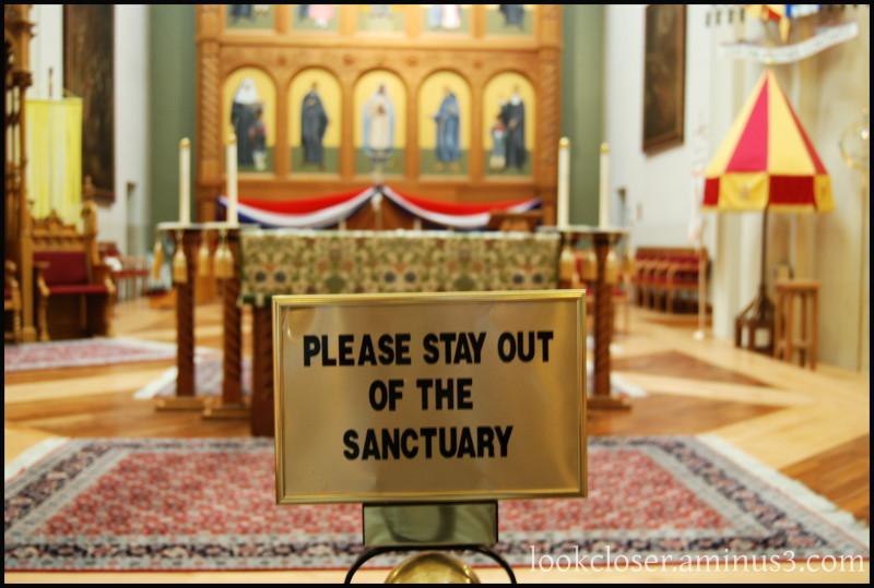 SantaFe NM West Cathedral sign ST