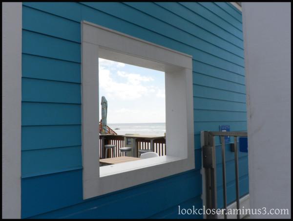 PanamaCity FL pier window teal gulf