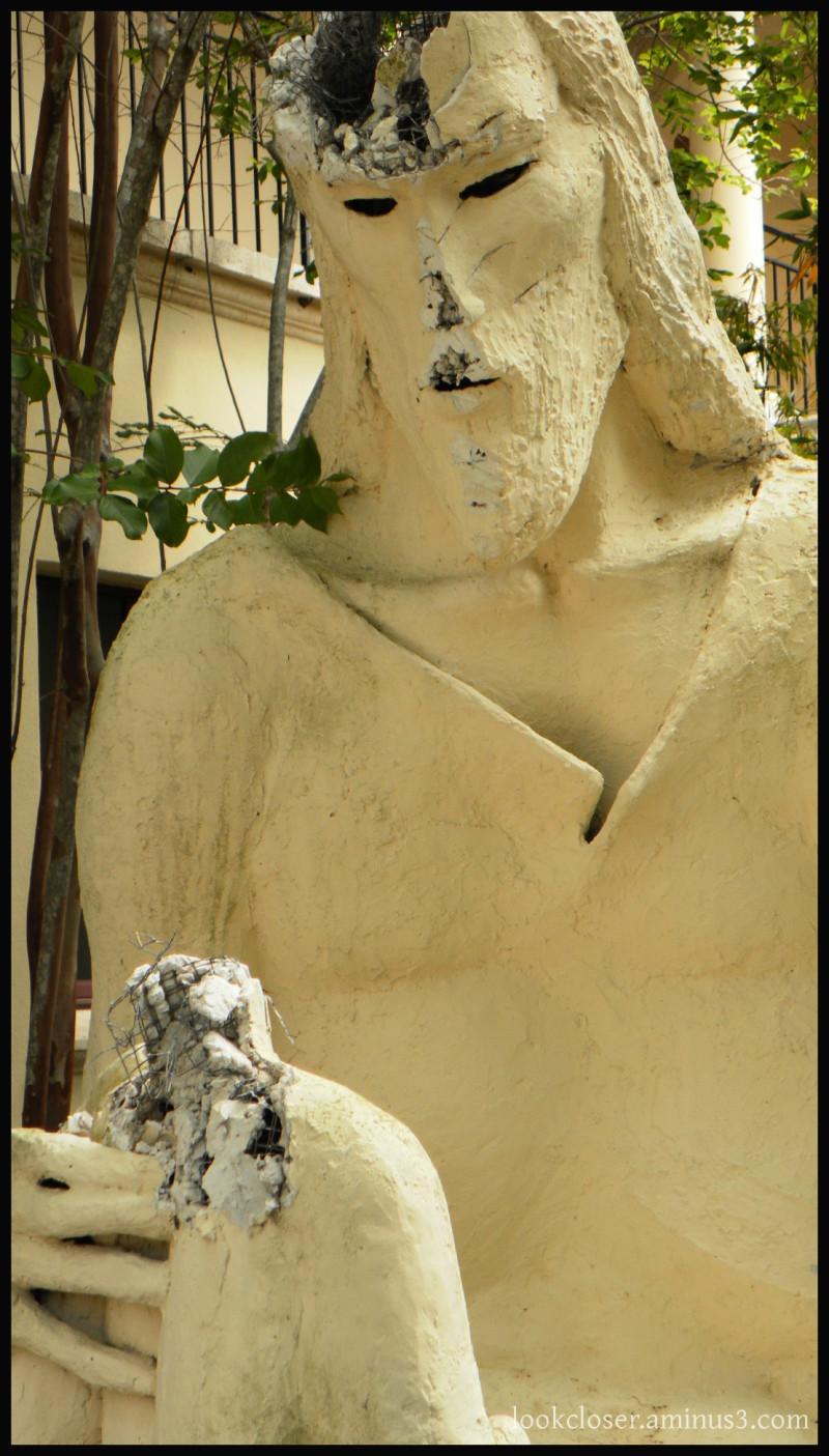 statue Christ Bradenton Church vandalism