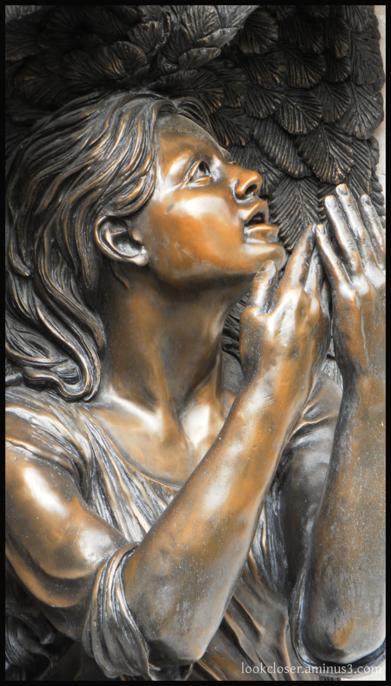 Angel statue supplication faith church bradenton