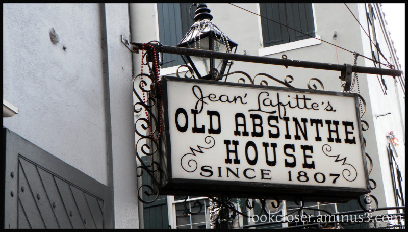 NOLA French-Quarter Absinthe-House sign