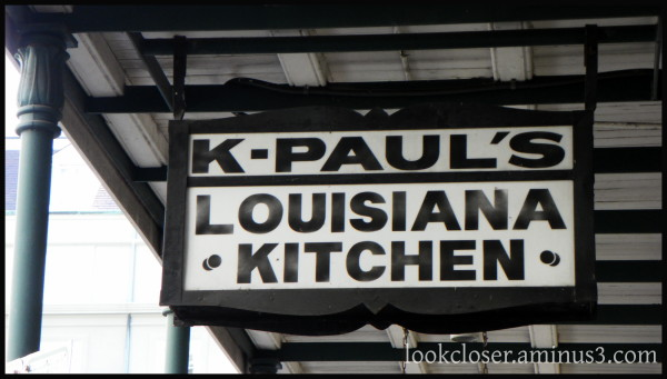 nola french-quarter K-Paul restaurant sign
