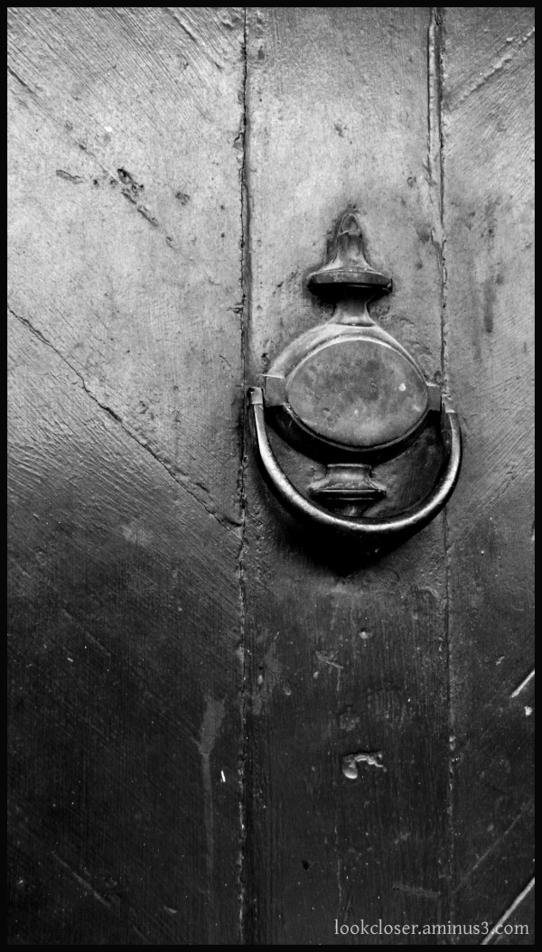 NOLA French-Quarter door knocker bw