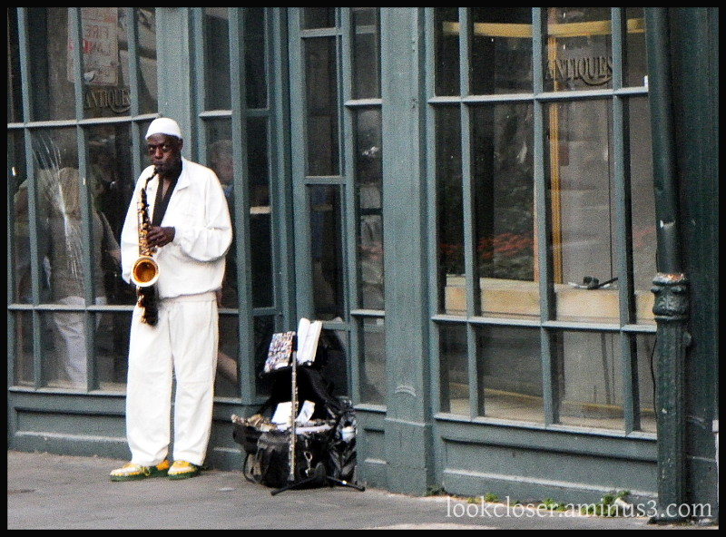 NOLA French-Quarter man saxophone