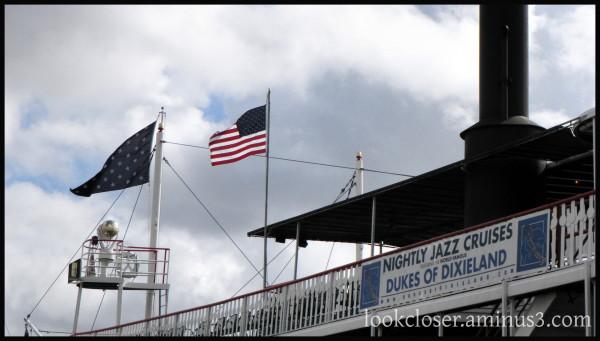 NOLA French-Quarter Natchez Riverboat Flag