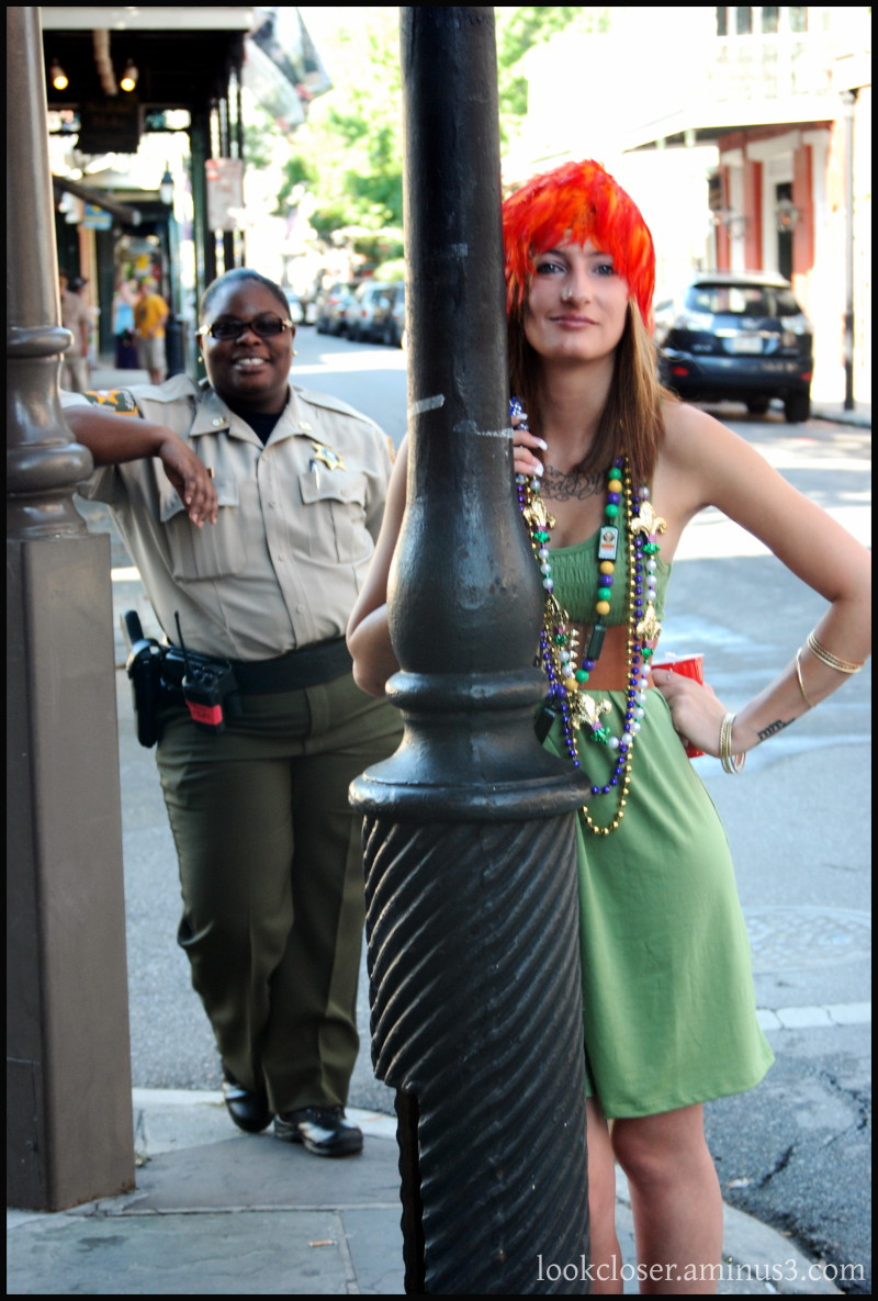 NOLA french-quarter posed attitudes street people