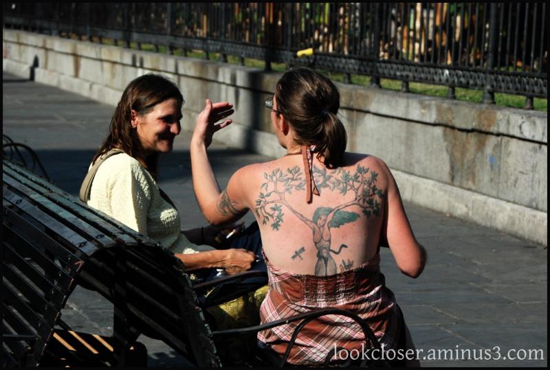 NOLA French-Quarter Jackson-Square tattoo woman