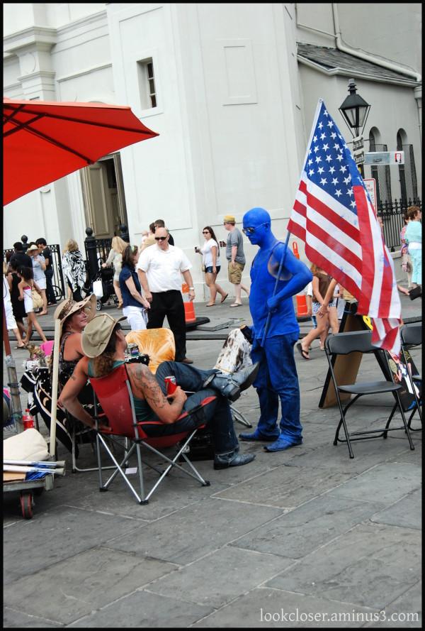 NOLA Quarter blue man flag