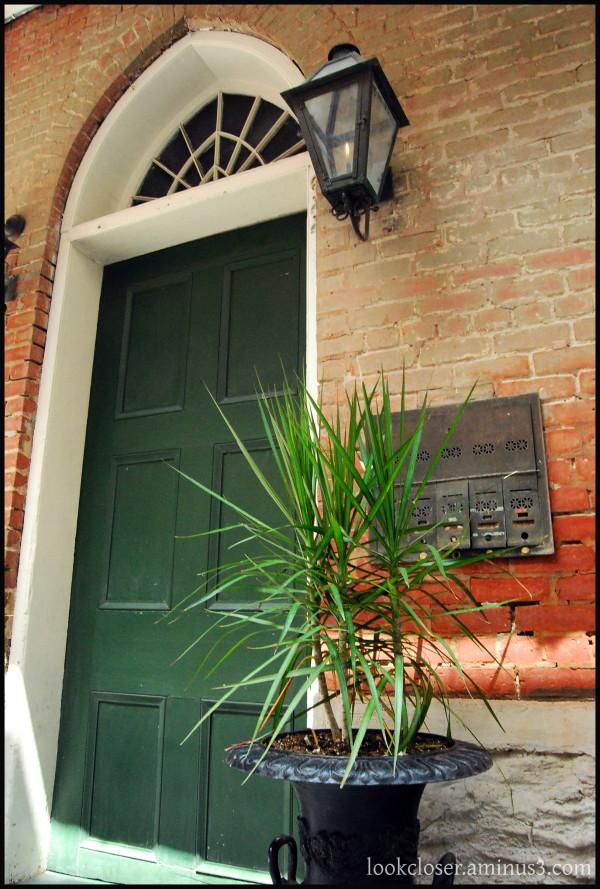 NOLA French-Quarter green door entrance