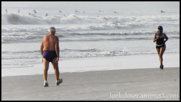 Jacksonville beach jogger walker surfers Atlantic