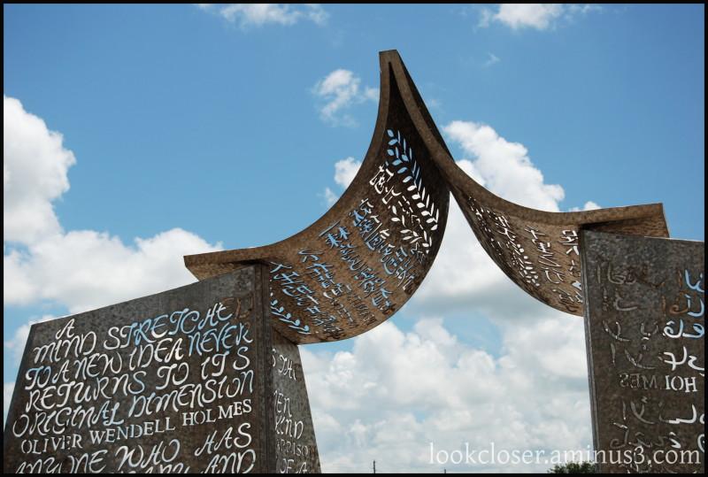 Sarasota FL library gate art architecture